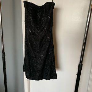 lk new White House Black Market black sequin dress